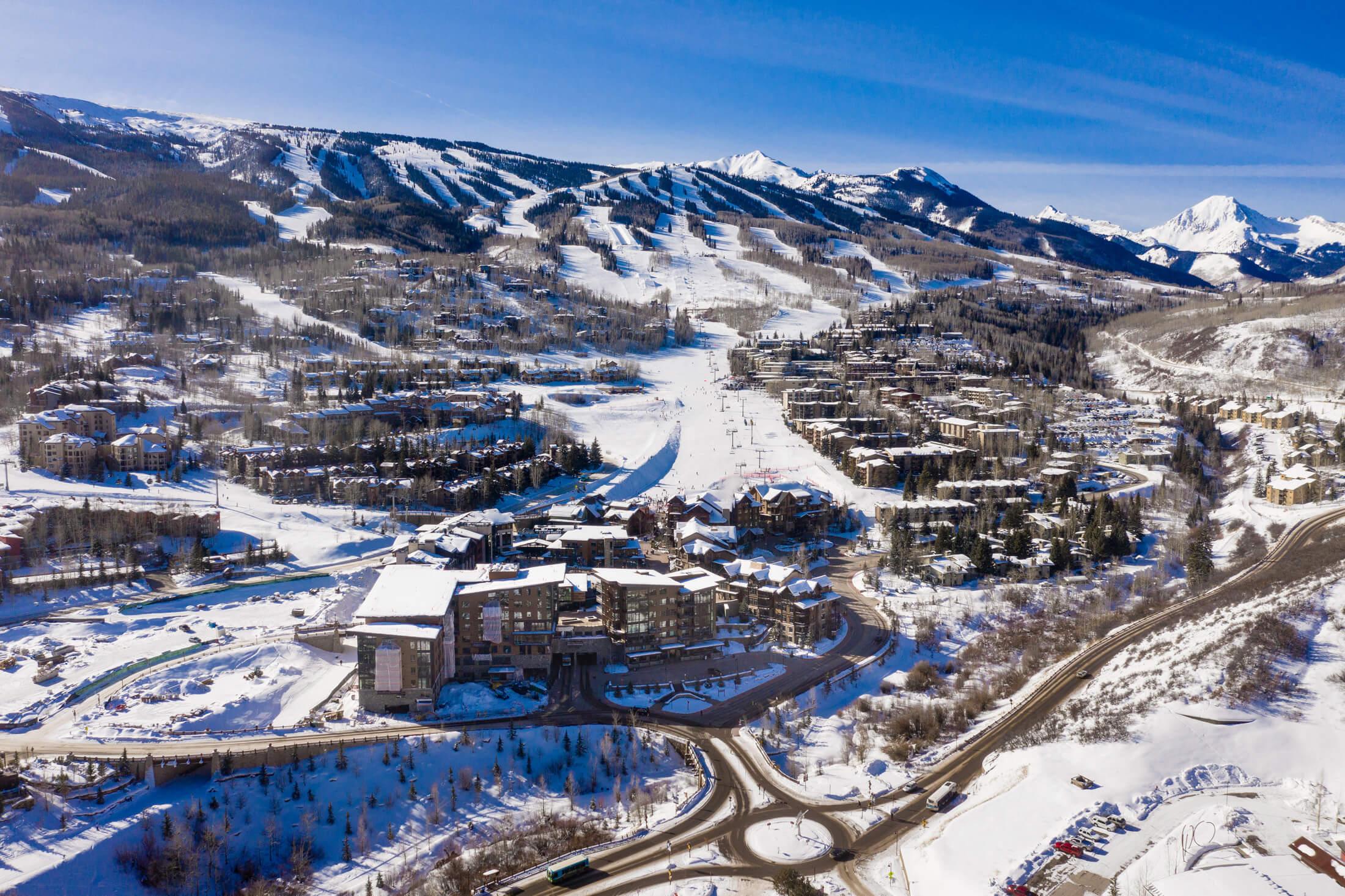 Aspen Snowmass resort aerial shot